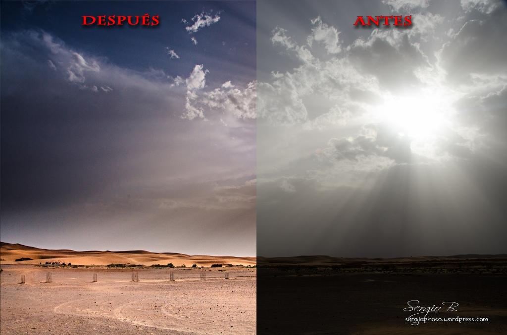 antes y después desierto