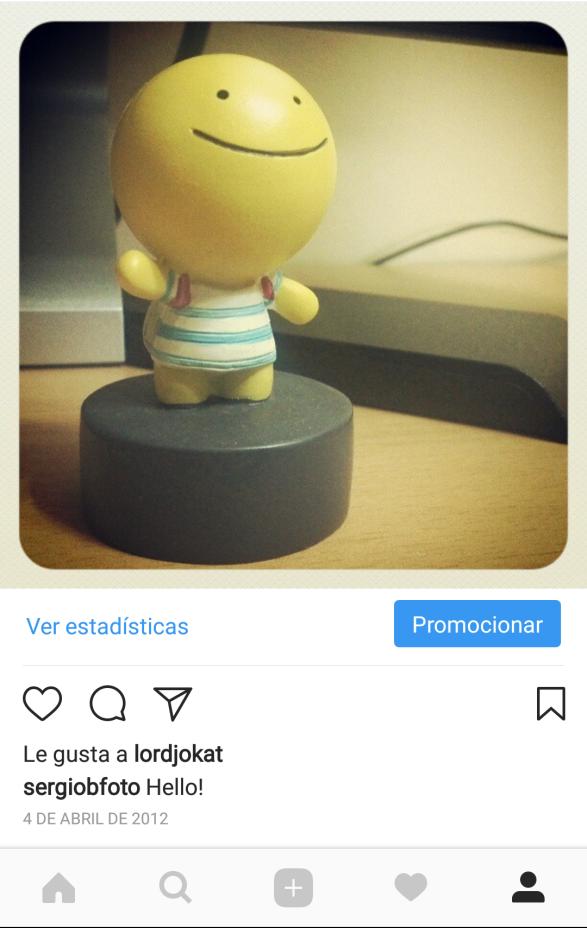 Mi primera foto en instagram.